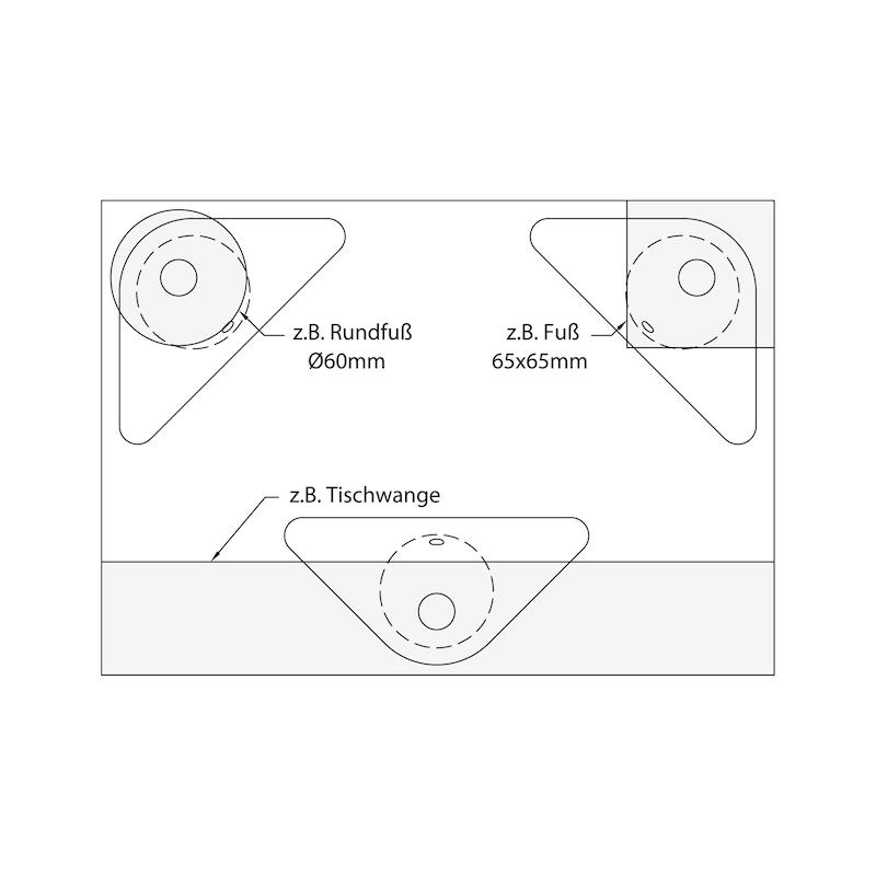 Tischbeinverbinder 50 - 3