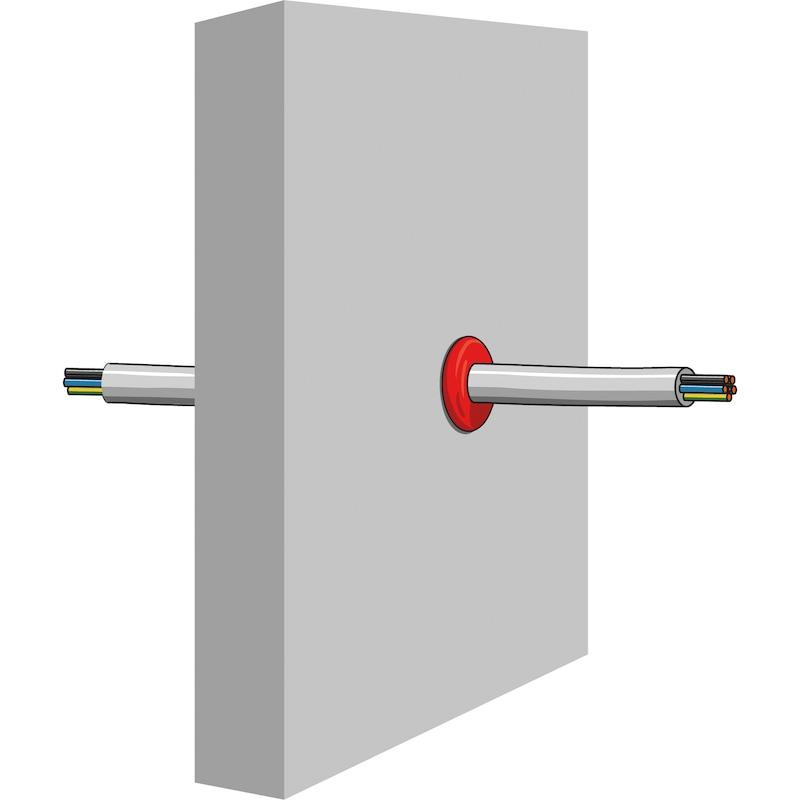 Brandschutz Knetmasse Ø15mm Schnur - DIKITT-SCHNUR-D15MM-L100CM