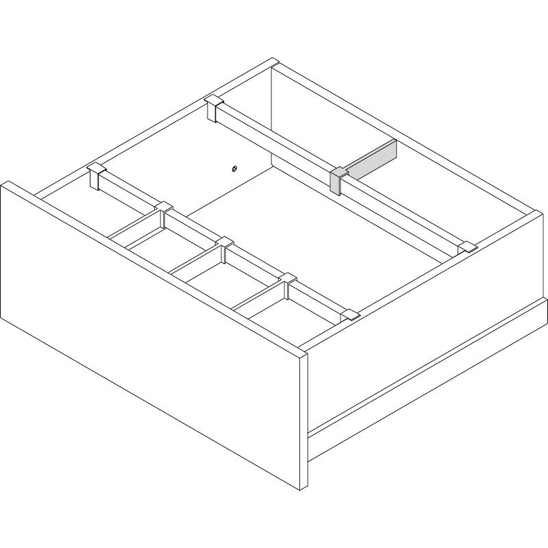 Séparateur de tiroir longitudinal pour séparateur de tiroir transversal Nova Pro Scala - 2