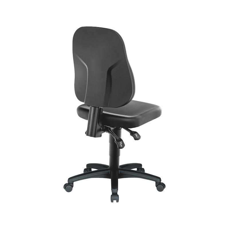 Arbeitsdrehstuhl BASIC mit Kunstlederbezug - 3