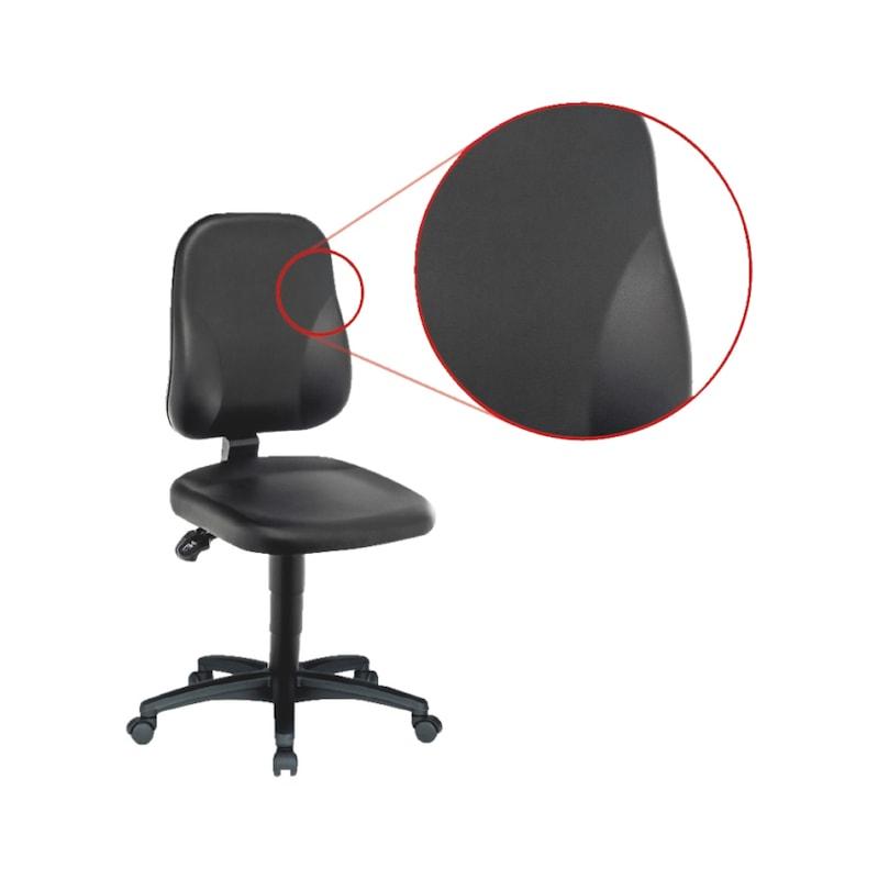 Arbeitsdrehstuhl BASIC mit Kunstlederbezug - 2