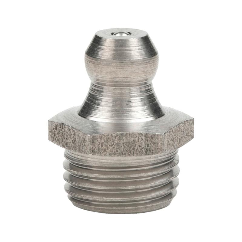 Kegelschmiernippel 180°, gerade Form, Zoll - 1