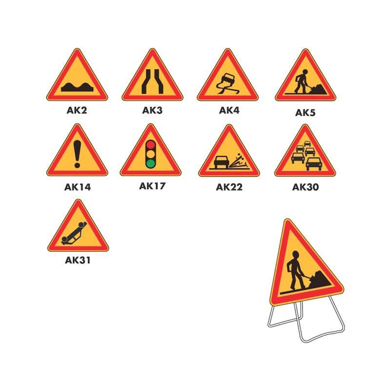 Panneau de signalisation type AK