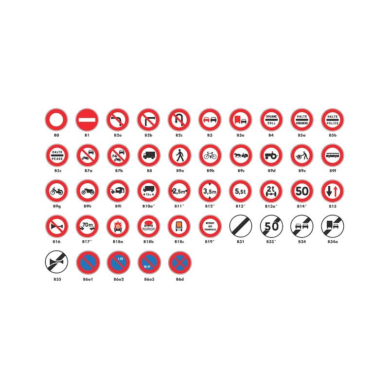Panneaux de type B - Interdiction / fin d'interdiction / stationnement