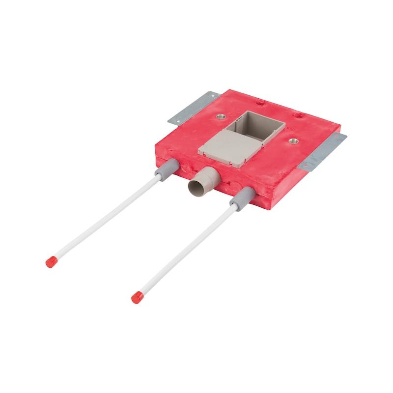 Installationsbox Waschtisch behindertengerecht Trockenbau - IB-WT-TB-KW/WW220-DN16-UNT-UP-KAST