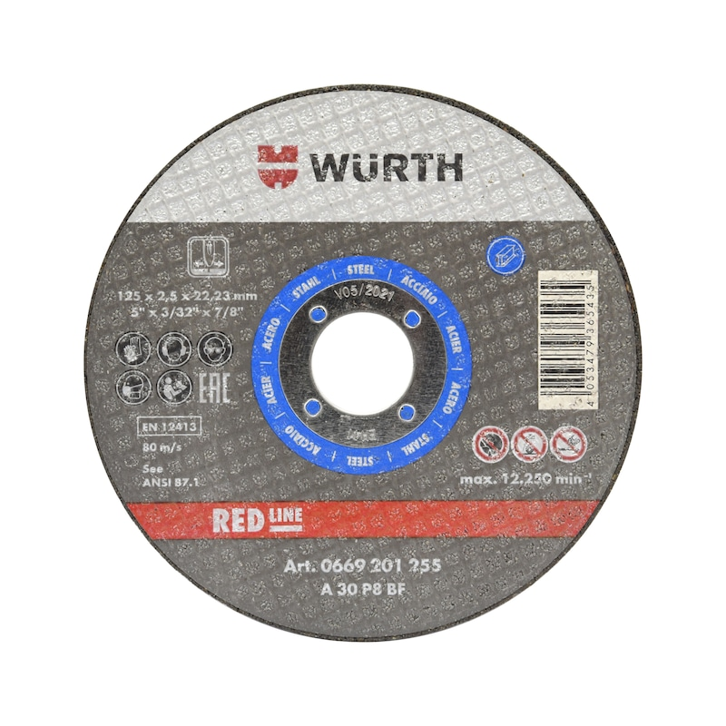 Cutting disc for steel - CUTDISC-BLUE-ST-SR-TH2,5-BR16,0-D100MM