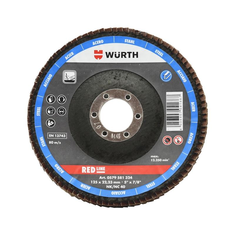 Disco de lixa de lamelas corindo HD Red Line - 1