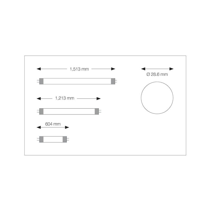 Ampoule LED pour tubes T8 (T26) - 2