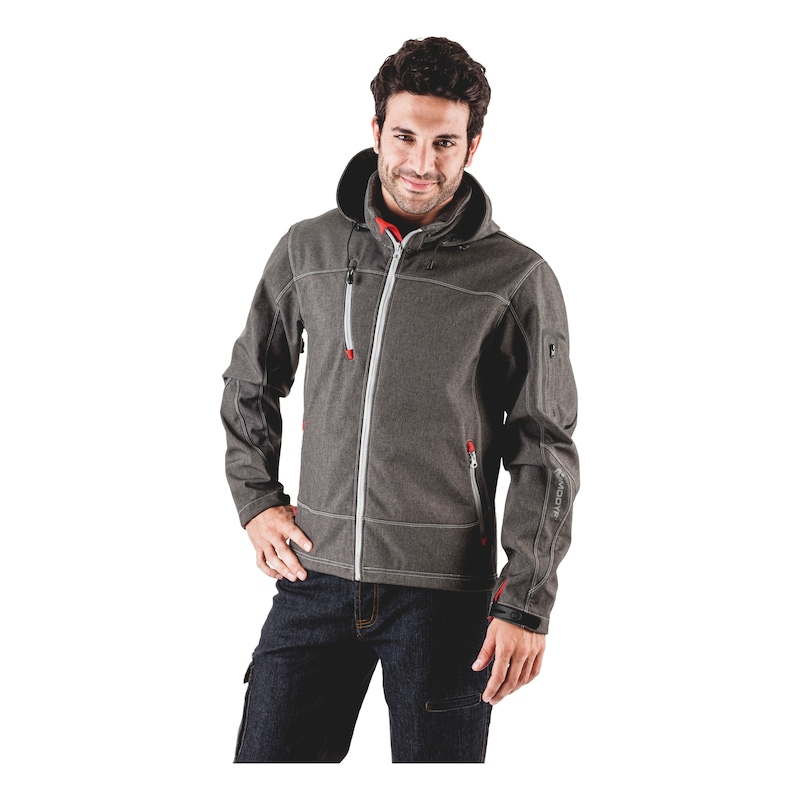 Artic Softshelljacke - SOFTSHELL JACKE ARTIC GRAU M