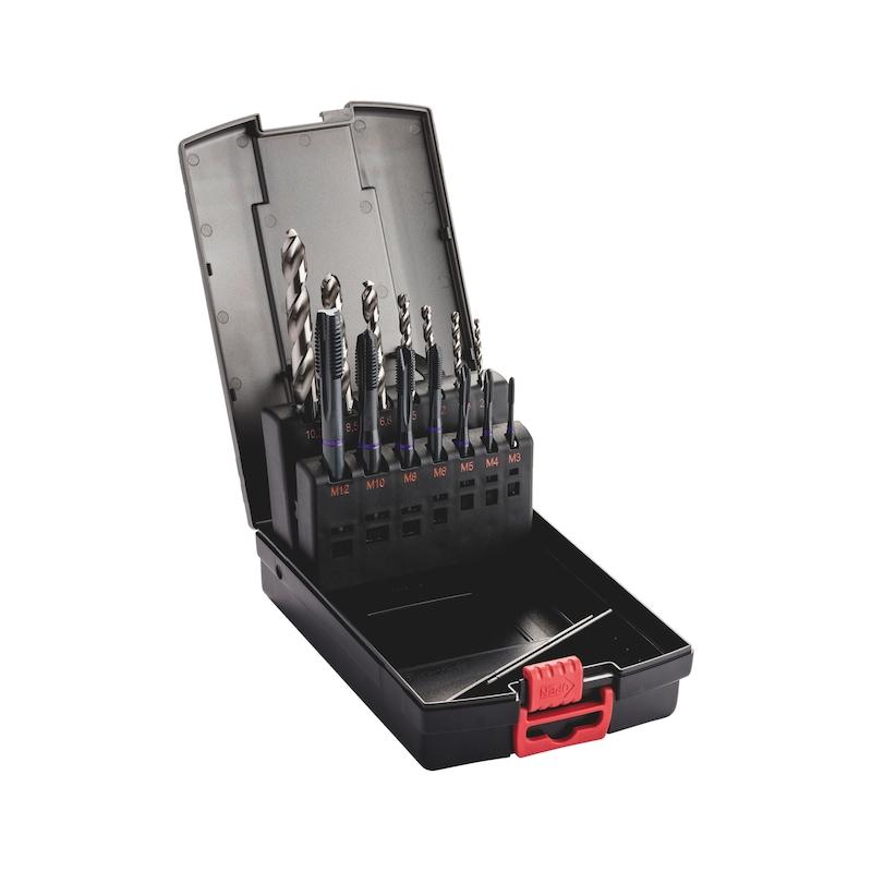 Maschinengewindebohrer Sortiment HSCo Multi Durchgangsloch M3-M12 - 1