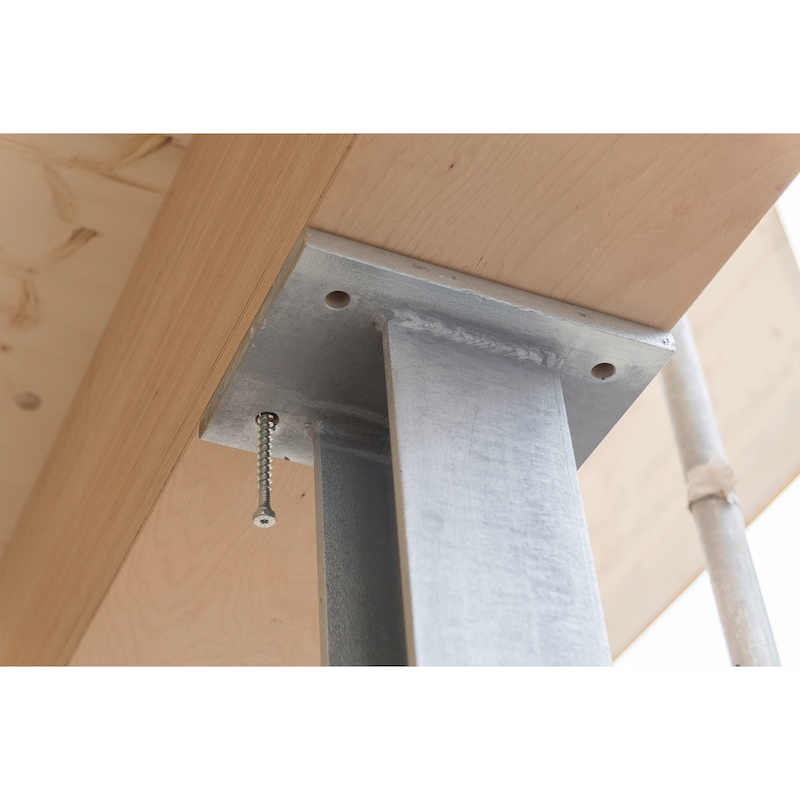 ASSY<SUP>®</SUP>plus FT 4 Combi Vite per carpenteria in legno, in acciaio zincato, filetto intero, testa esagonale - 11