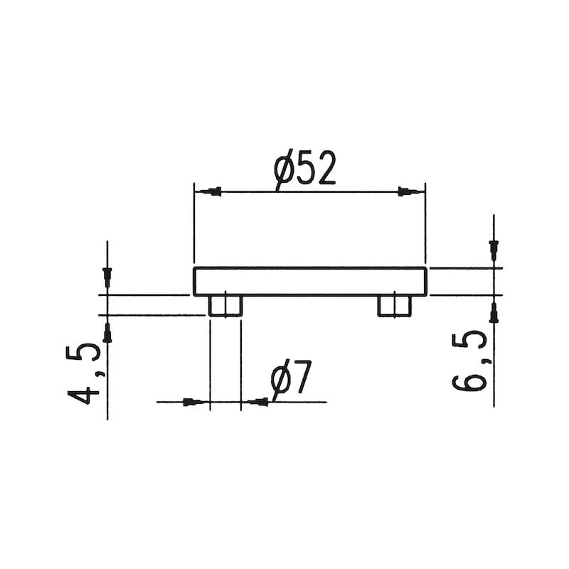 Schlüsselrosettenpaar Kantig - 2