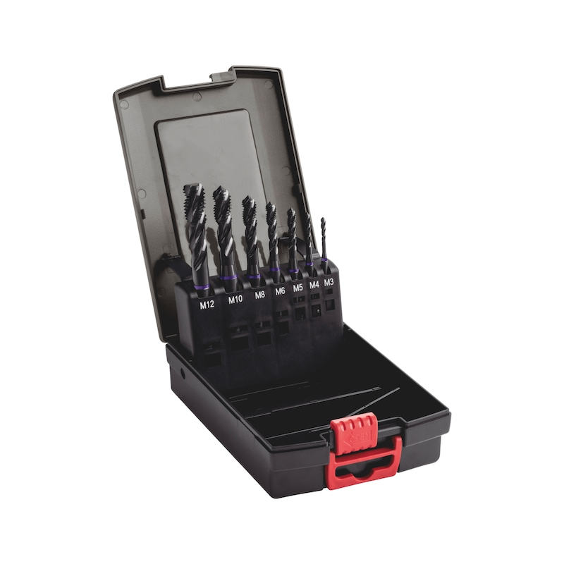 Maschinengewindebohrer Sortiment HSCo Multi Performance Grundloch DIN 371/376 M3-M12 - 1