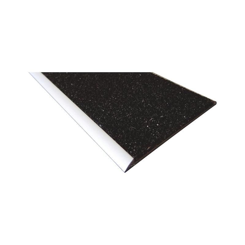 Profilé aluminium avec bande antidérapante pour nez de marche - 1
