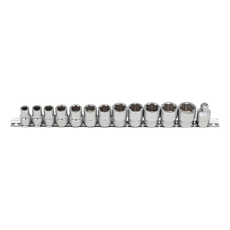 3/8 Zoll Steckschlüsselsatz - STESHSL-SORT-3/8ZO-MULTI-13TLG