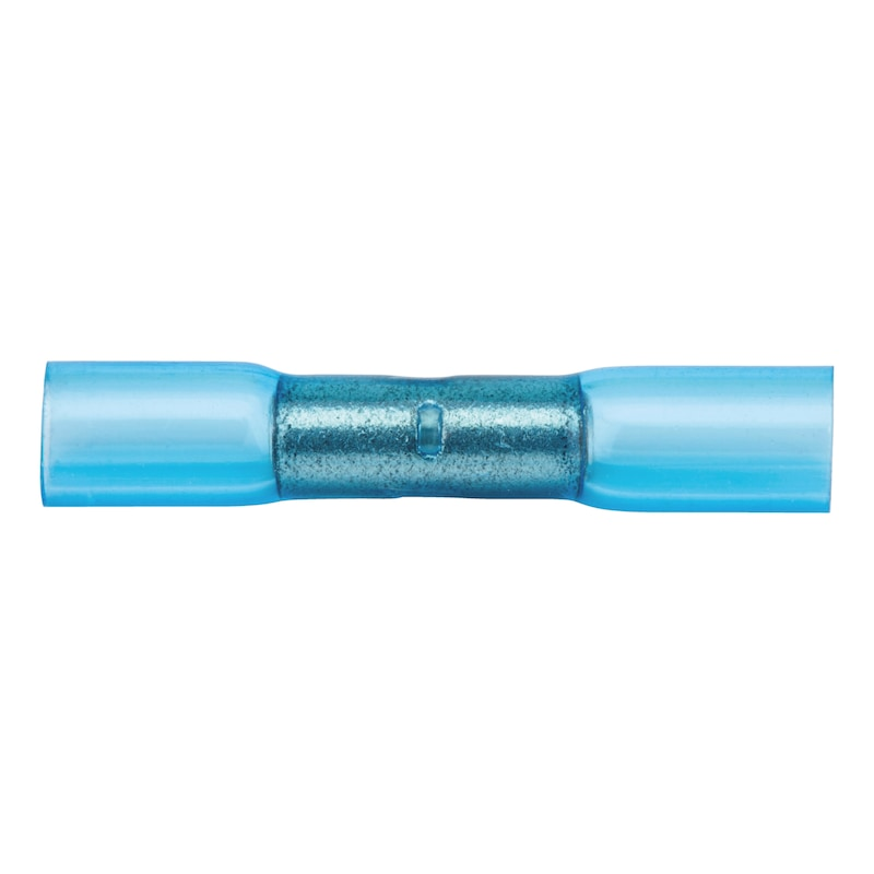 Wärmeschrumpfender Crimpverbinder Stoßverbinder - STOSVERB-SHRMPFSCHL-BLAU-(1,5-2,5QMM)