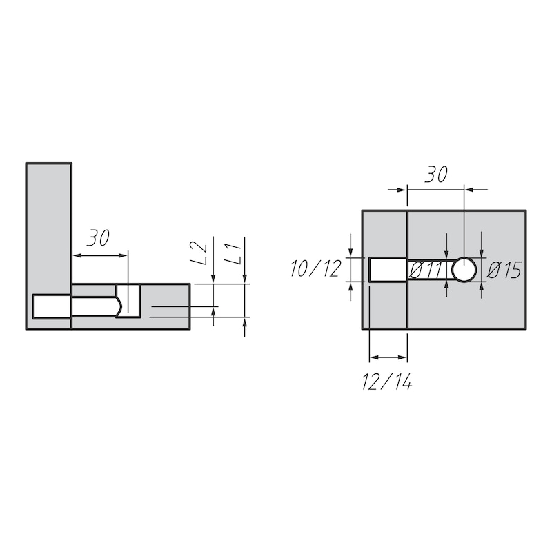 Möbel-Verbinder SL 15 - 3