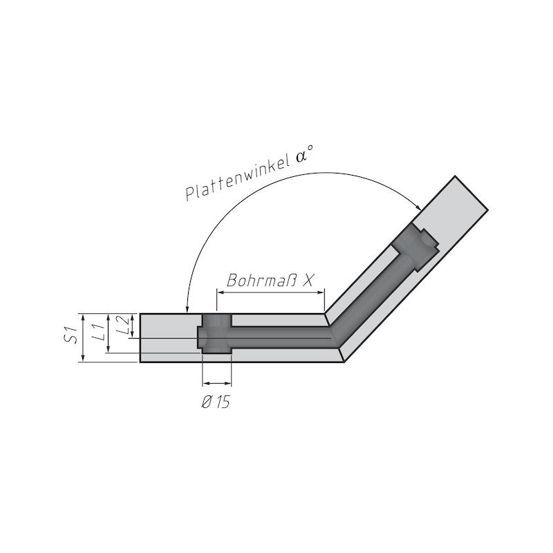 Gehrungsbolzen für Möbel-Verbinder SL 15 - 4
