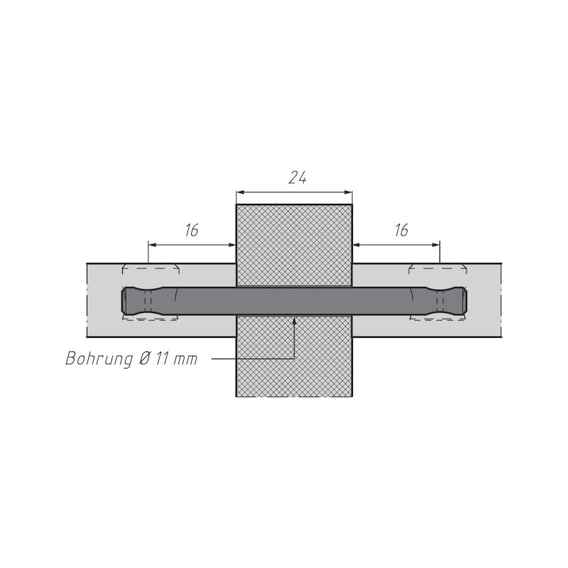 Doppelbolzen für Möbel-Verbinder SL 15 - 5