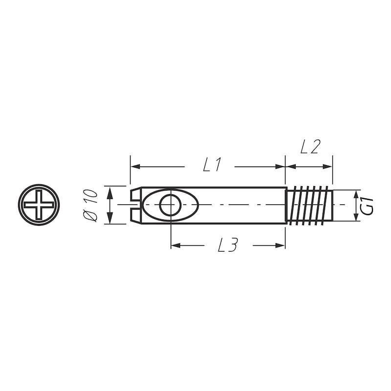 Bolzen für Möbel-Verbinder SL 15 - 2