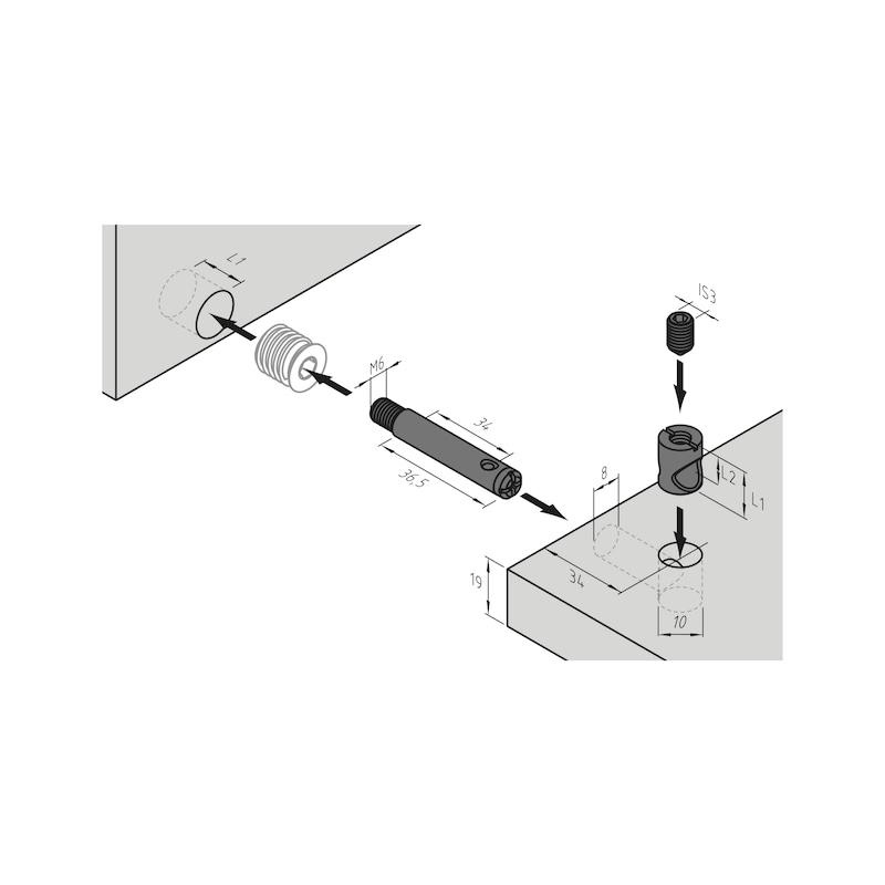 Möbel-Verbinder SM 10 - 4