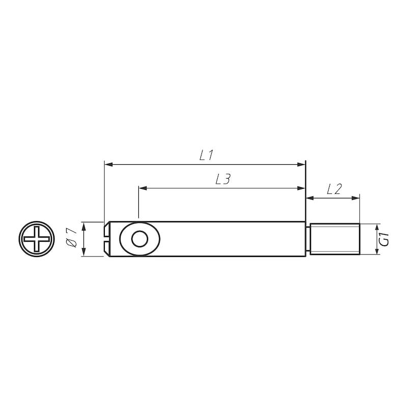 Bolzen für Möbel-Verbinder SM 10 - 2