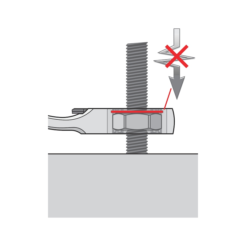 Ratschen-Ringmaulschlüssel - RATRGMAULSHSL-UMSCHALT-SPRENGRG-SW9MM