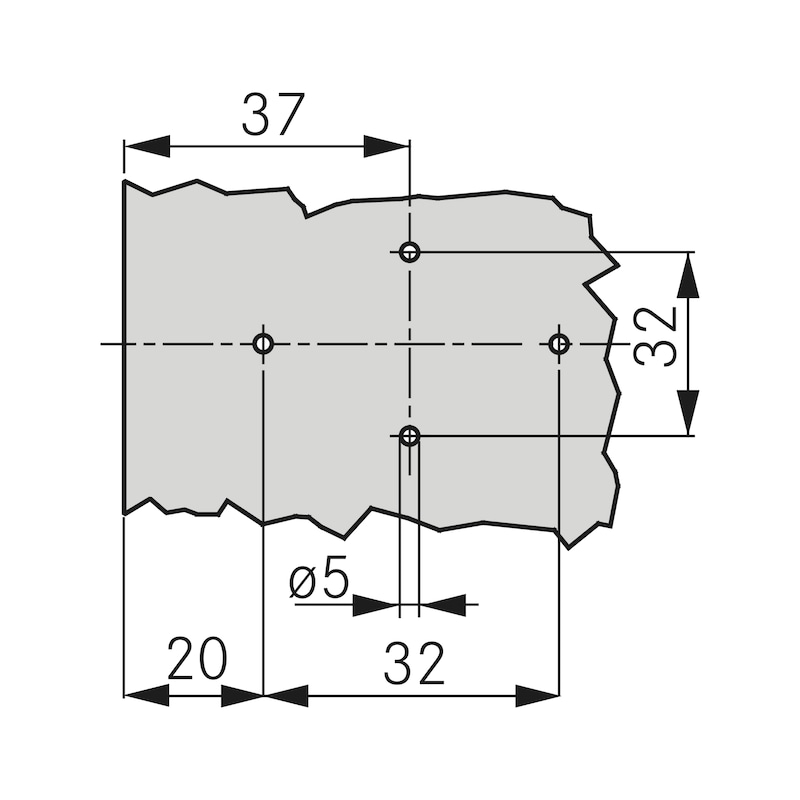 1D-Kreuzmontageplatte Quick - KRZMNTGPL-TIOMOS-QUICK-11MM-ST-H00