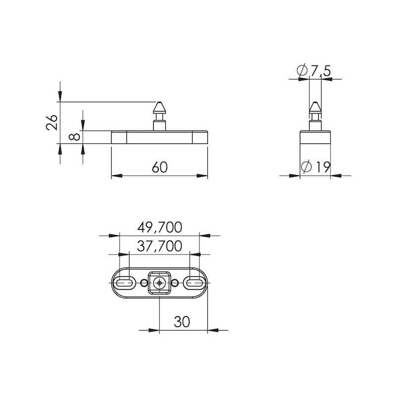 Schließbolzen Chiptronic - 2