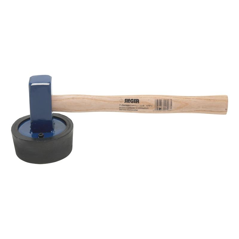 Plattenlegerhammer Rund