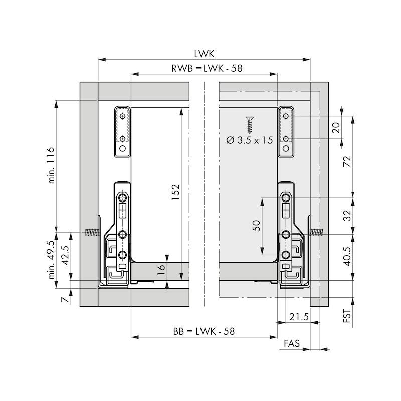 Rechteckreling-Set Nova Pro - 2