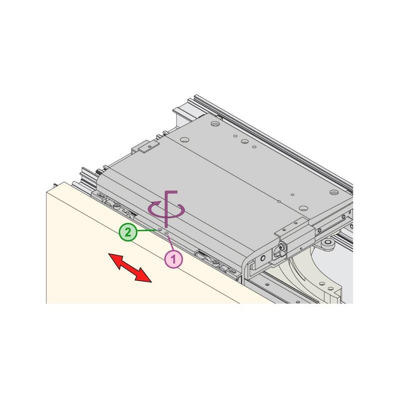 Möbelschiebetürbeschlag  RSB 55/85 FB - 6