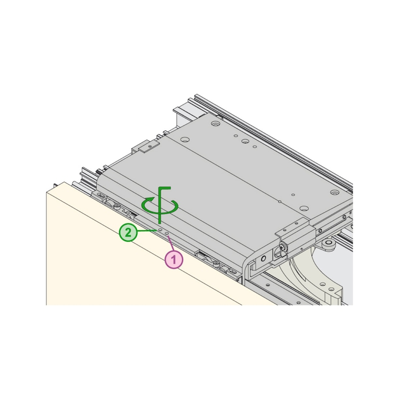 Möbelschiebetürbeschlag  RSB 55/85 FB - 7