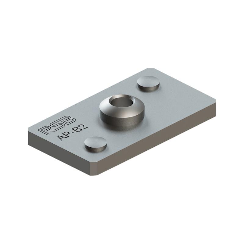 Schweißplatte Teil 3 - einfache Ausführung (AP)  - 1
