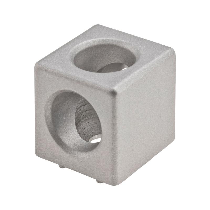 Würfelverbinder Set - WUEVERB-ALUG-BLK-SET-NUT8-M8-30X30MM