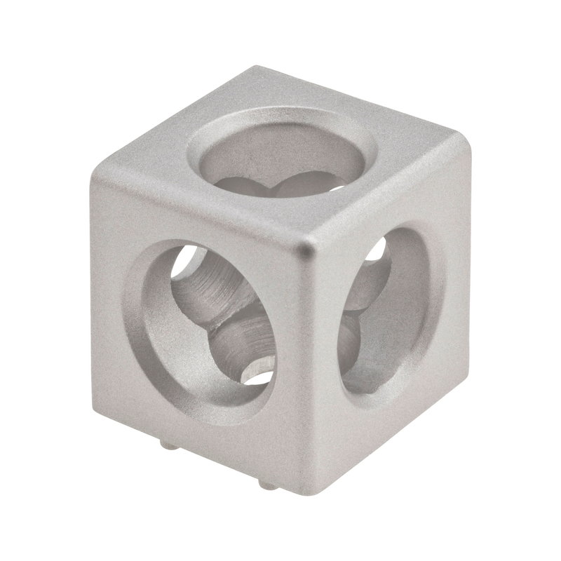 Würfelverbinder Set - WUEVERB-ALUG-ALU-3D-SET-NUT10-M12-45MM