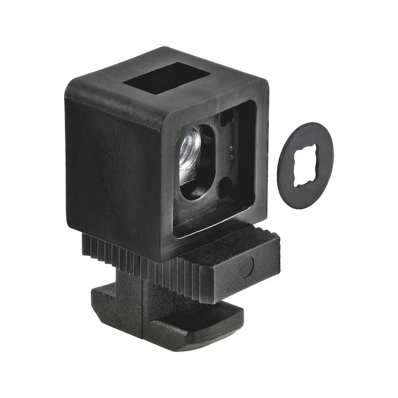 Varioklemmblock Kunststoff - KLEBLCK-VARIO-KST-PA-NUT10-M6-0-13MM