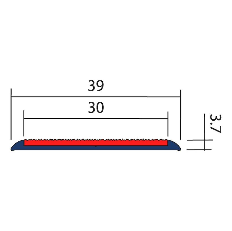 Profilé aluminium avec bande antidérapante pour nez de marche - 2
