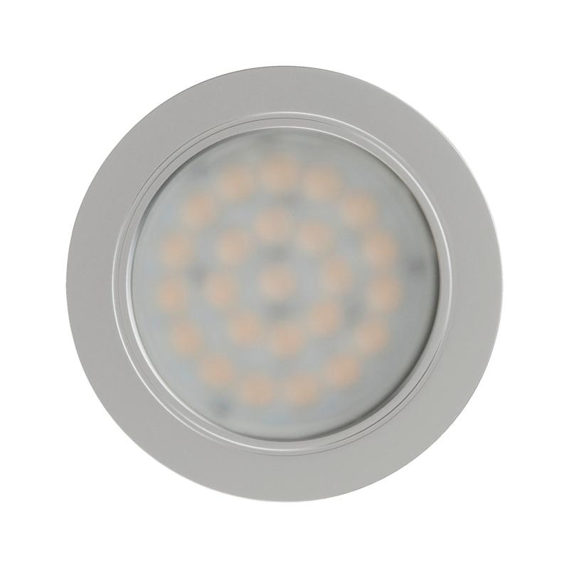 LED-Einbauleuchte EHW 13 - LEUCHT-LED-EHW13-(CHROM-MATT)-LD2-WW