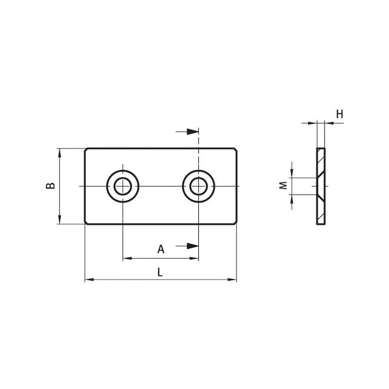 Verbinderplatte - 2