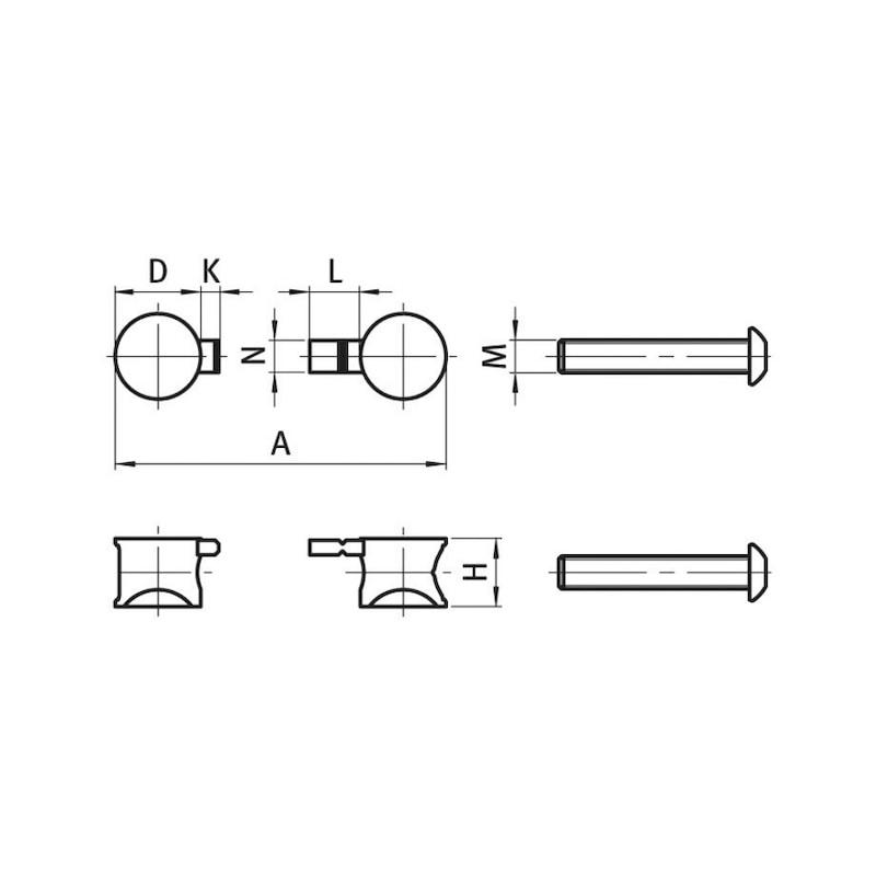 Profil Stoßverbinder Uni - 2