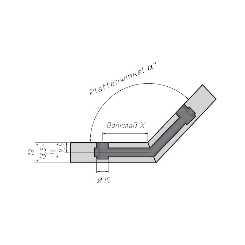 Gehrungsbolzen für Möbel-Verbinder SE 15 - 3
