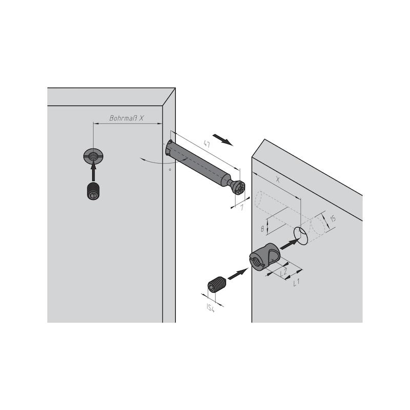 Gehrungsbolzen für Möbel-Verbinder SE 15 - 4