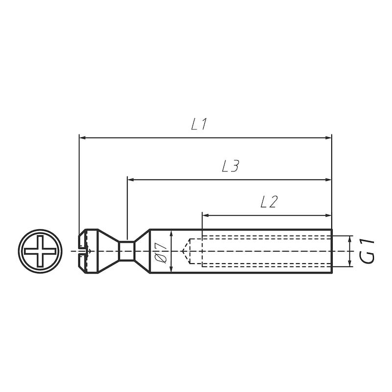 Doppelbolzen für Möbel-Verbinder SE 15 - 2
