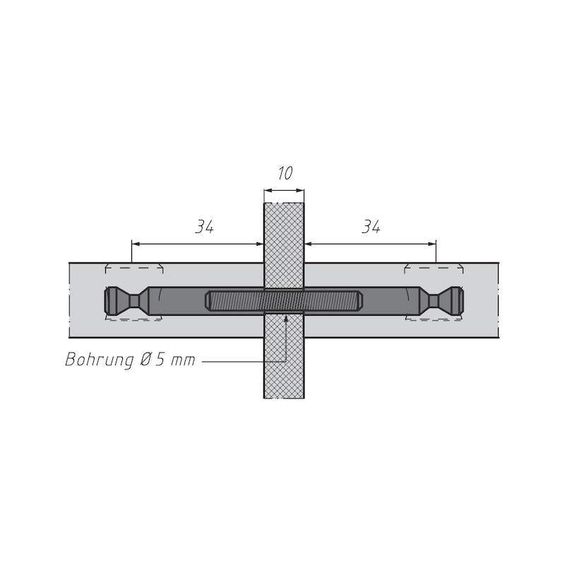 Doppelbolzen für Möbel-Verbinder SE 15 - 5