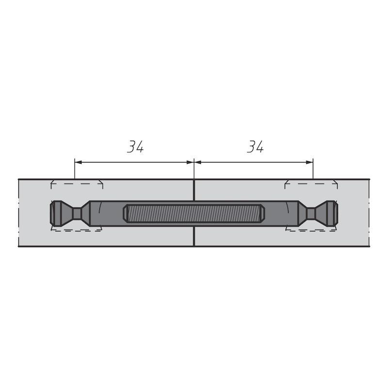 Doppelbolzen für Möbel-Verbinder SE 15 - 4
