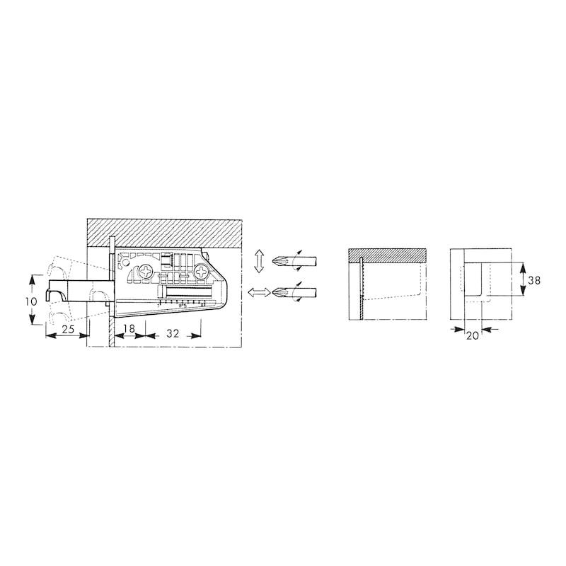 Suspension réglable pour armoires - 2