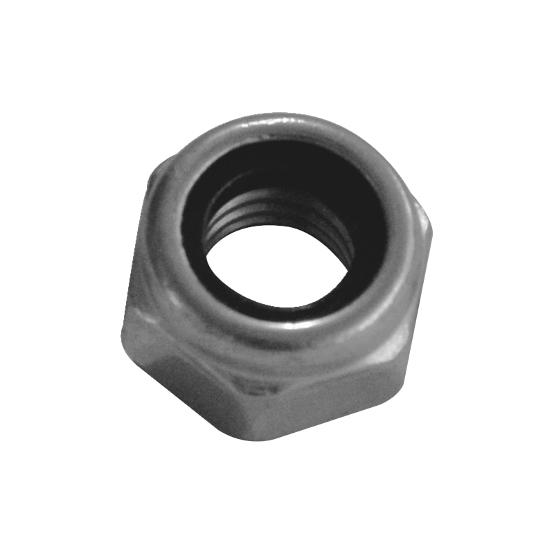 DIN 985 stainless steel A2 zinc plated - NUT-HEX-SLOK-DIN985-A2-(ZN)-M6