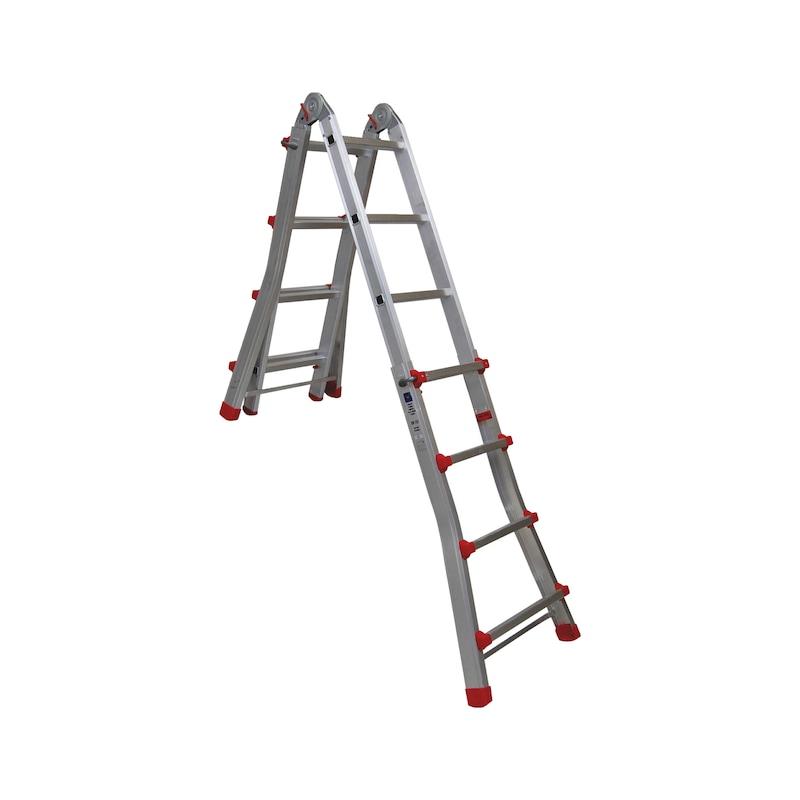 Escada articulada telescópica EN 131 - ESCADA ARTICULADA TELESCOPICA 4X4