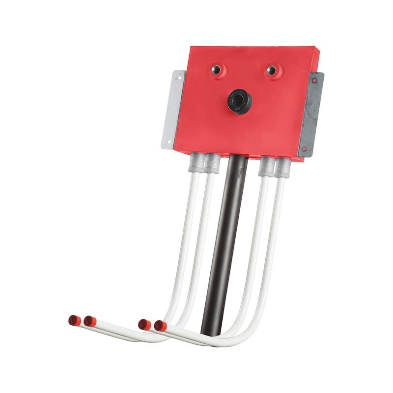 Installationsbox Standardwaschtisch Trockenbau - IB-WT-TB-2XKWA/WWA150-DN16-UNT-ABWA50